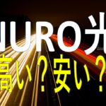 NURO光は高くない!コスト削減にもなる世界最速光回線!